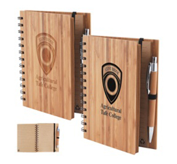 Bamboo Cover Notebook with Pen