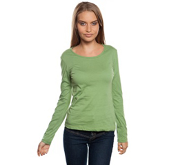 Ladies Organic Cotton with long sleeve