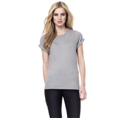 Ladies Organic rolled sleeves